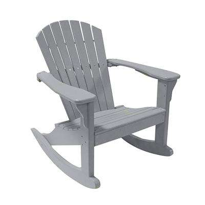 Gray Poly-Lumber Outdoor Rocking Chair