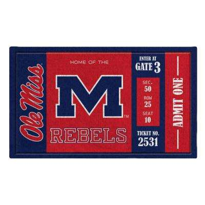 Ole Miss 30 in. x 18 in. Vinyl Indoor/Outdoor Turf Floor Mat