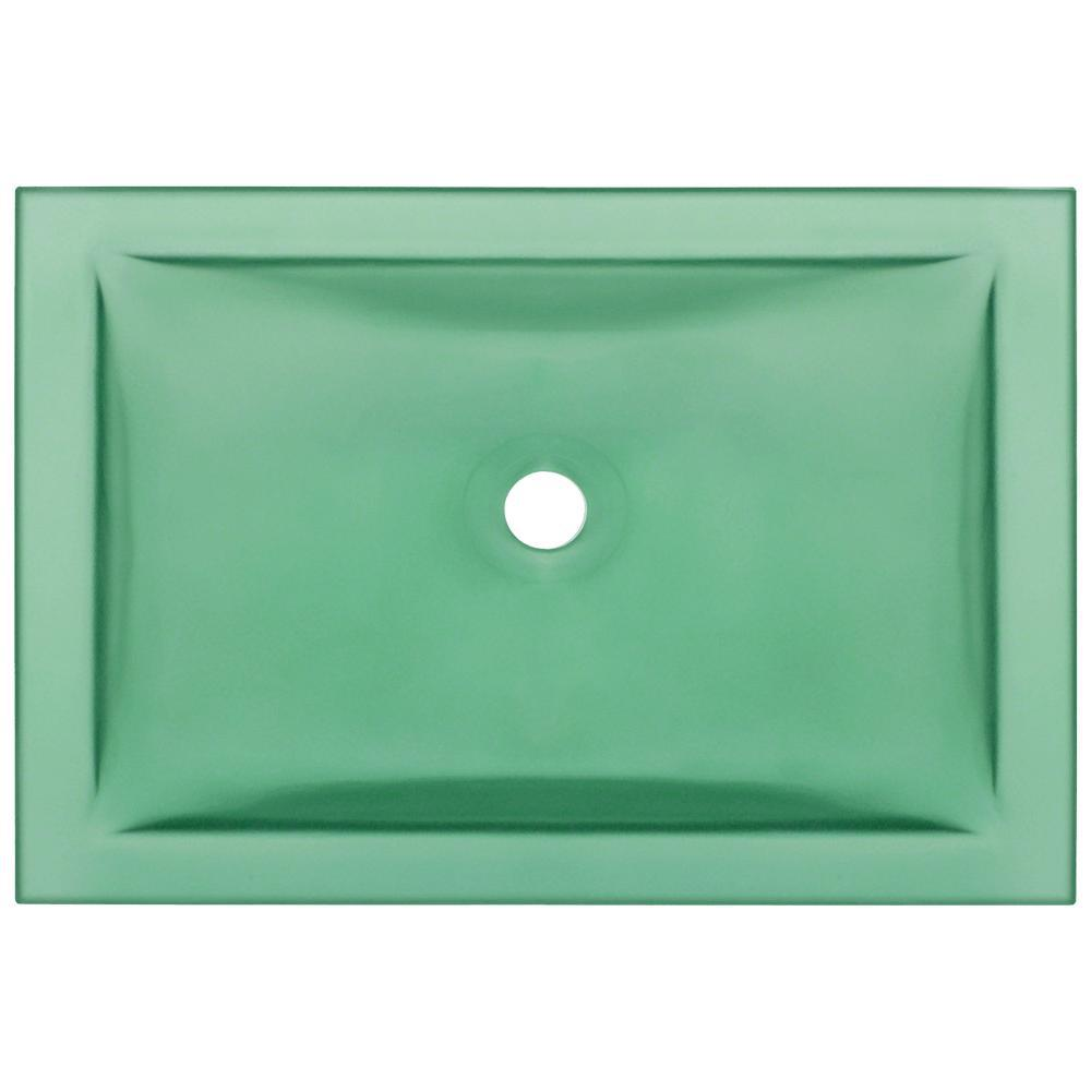 MR Direct Undermount Glass Bathroom Sink in Emerald-UG1913-E - The ...