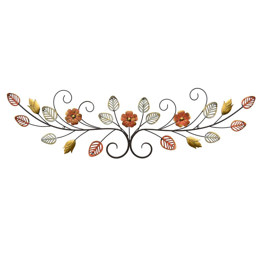 Exceptionnel Three Hands Metal Floral Wall Art