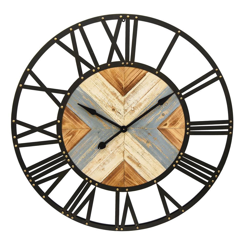43.5 in. Metal/ Wood Clock