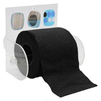 Street Art Toilet Paper Holder Paper 1-Roll Holder Suction Mounted in 100% Acrylic