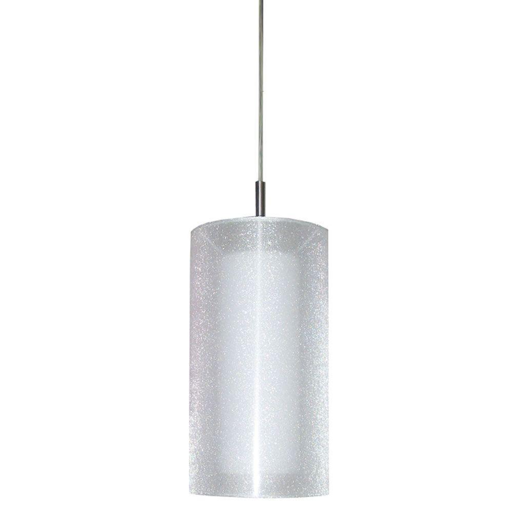 Filament Design Cathrine 1 Light 12 in. Satin Chrome Pendant