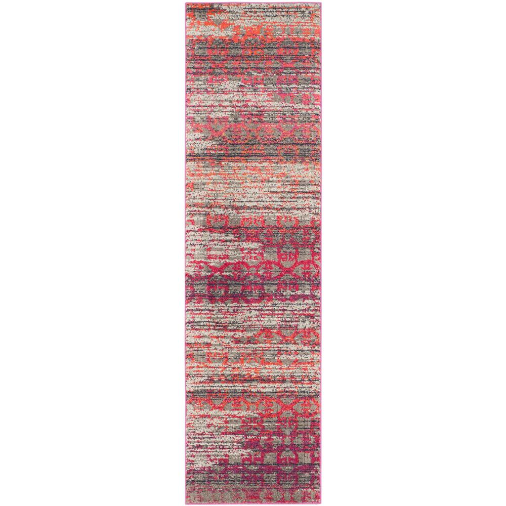 Monaco Gray/Multi 2 ft. 2 in. x 8 ft. Runner