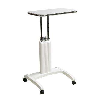 Precision White Laptop Stand with Wheels