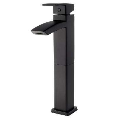 Kenzo Single-Handle Vessel Bathroom Faucet in Matte Black