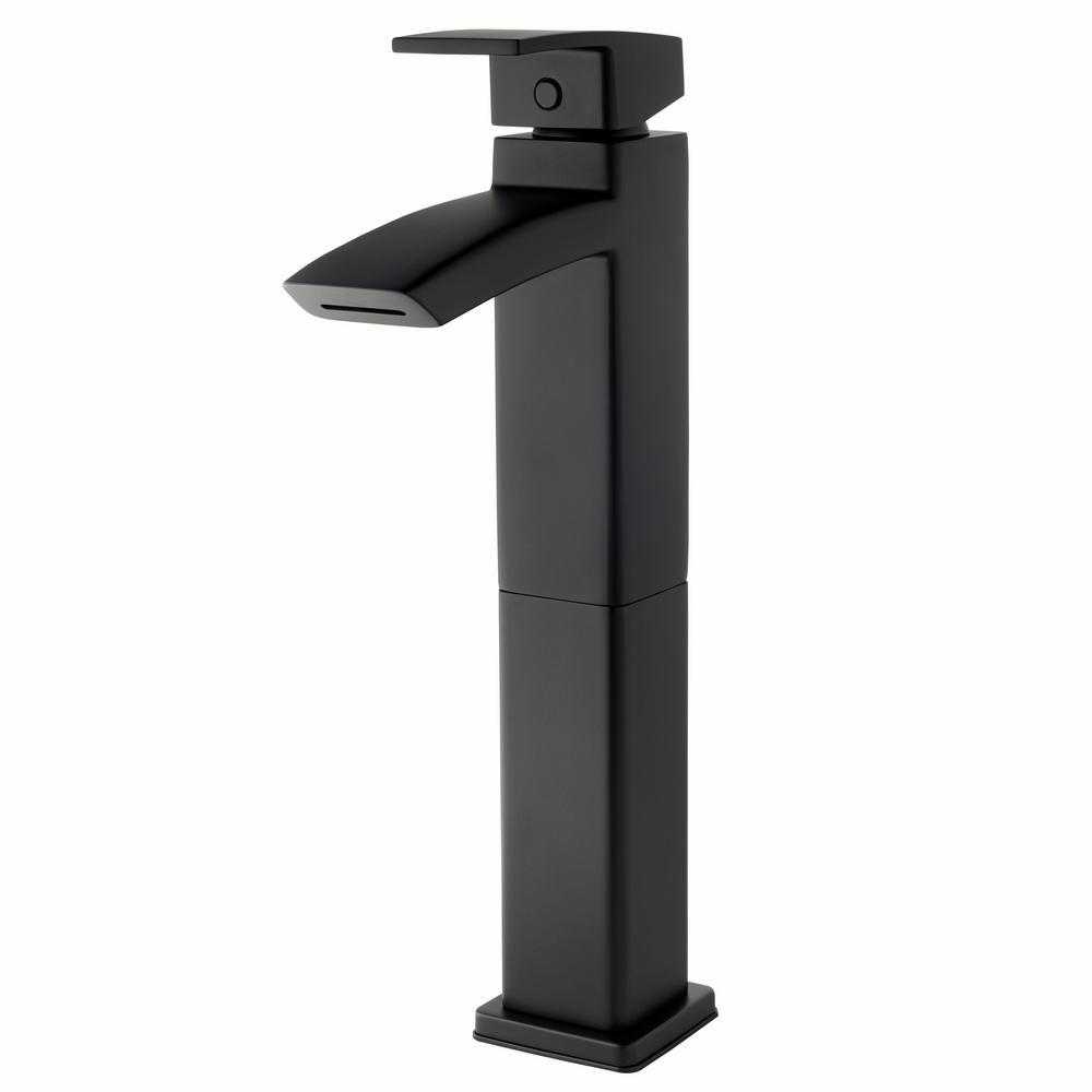Pfister Kenzo Single-Handle Vessel Bathroom Faucet in Matte Black