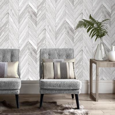 Strata Tuck Grey Removable Wallpaper