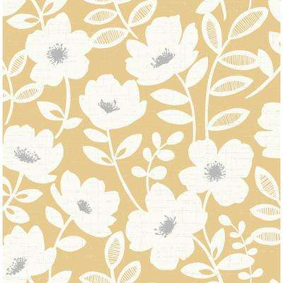 Rustic Strippable Yellow Wallpaper Home Decor The Home Depot