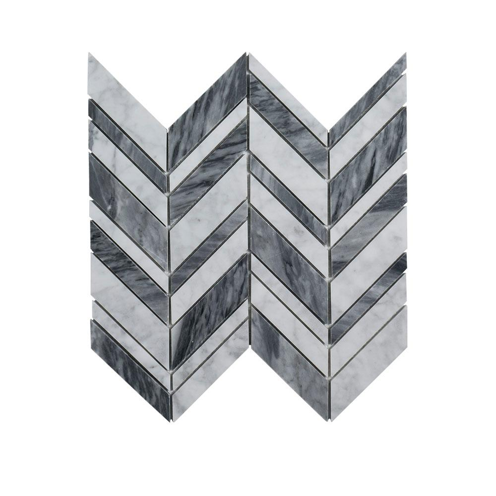 Jeff Lewis Carlton 11.25 in. x 12 in. x 9 mm Stone Mosaic Tile-96796 ...