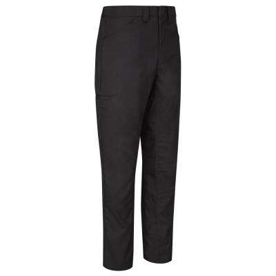 Men's 38 in. x 28 in. Black Lightweight Crew Pant