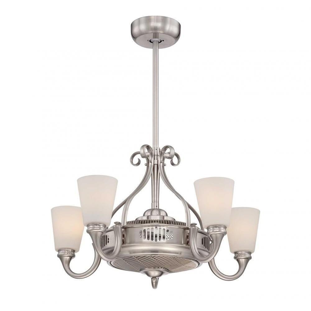 Illumine Jefferson 32 In Indoor Satin Nickel Ceiling Fan