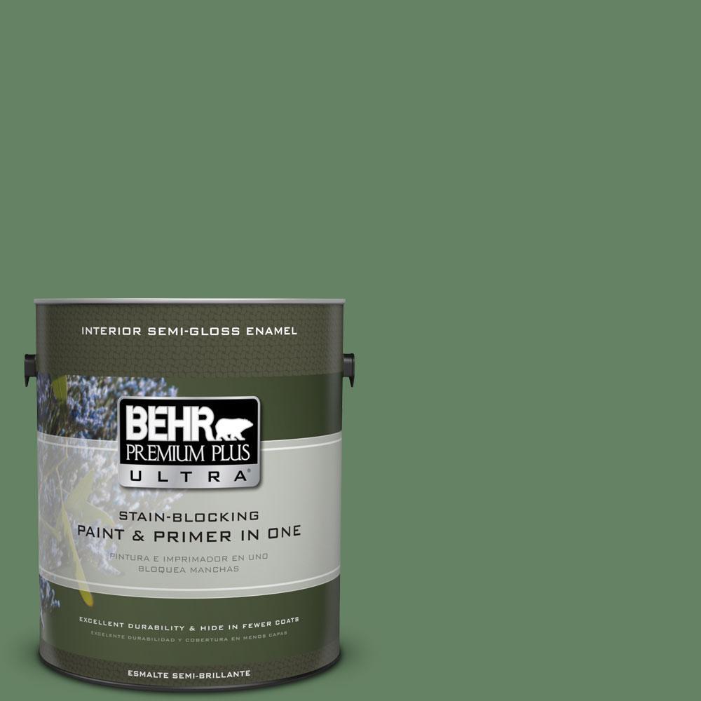 BEHR Premium Plus Ultra 1-gal. #S400-6 Tuscan Herbs Semi-Gloss Enamel Interior Paint