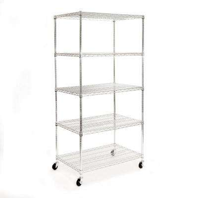 72 in. H x 36 in. W x 24 in. D 5-Tier Ultra-Zinc Steel Wire Shelving Unit