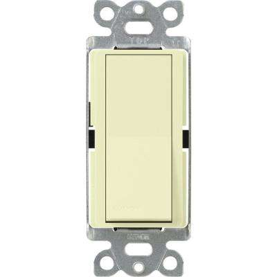 Claro 15 Amp Single-Pole Rocker Switch with Locator Light, Almond