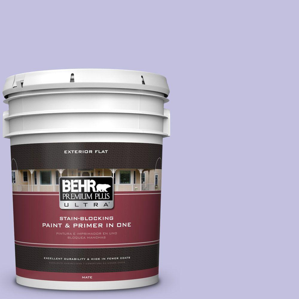 5-gal. #630A-3 Weeping Wisteria Flat Exterior Paint