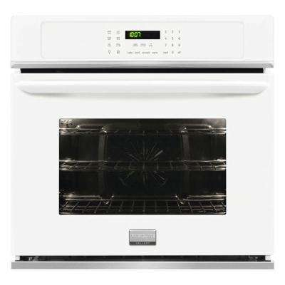 27 in. Single Electric Wall Oven Self-Cleaning with Convection in White