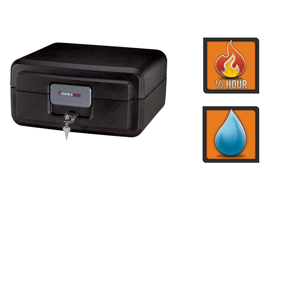 0.37 cu. ft. Fire and Water-Resistant Chest with Key Lock