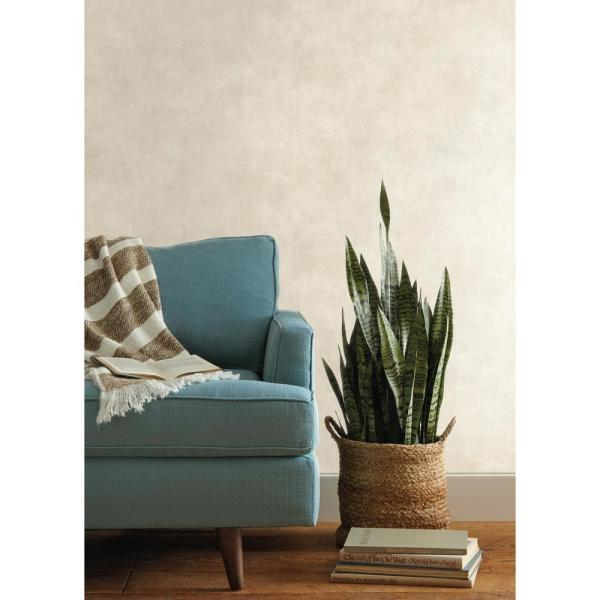Magnolia Home by Joanna Gaines - Plaster Finish Paper Strippable Wallpaper (Covers 60.75 sq. ft.)