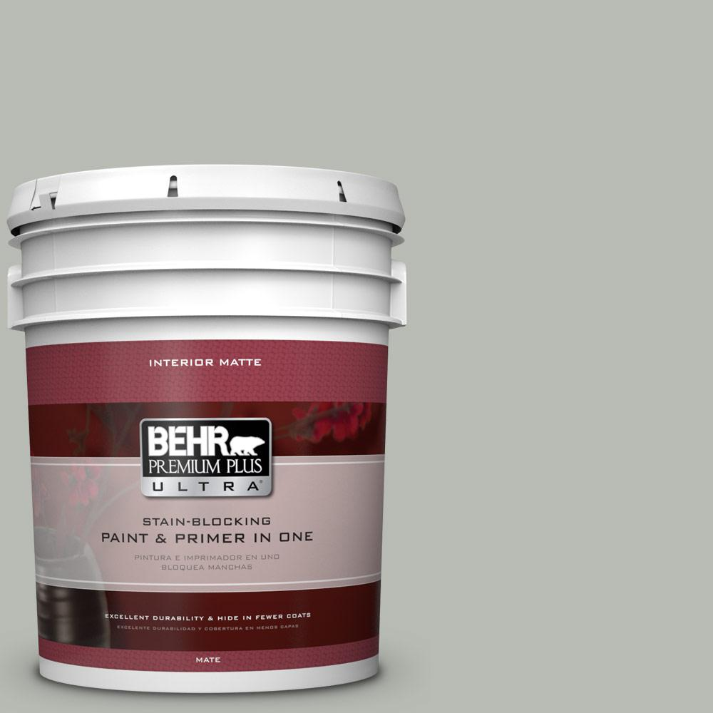 BEHR Premium Plus Ultra Home Decorators Collection 5 gal. #HDC-AC-21 Keystone Gray Flat/Matte Interior Paint