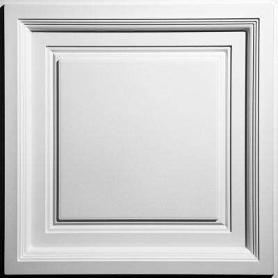 Westminster White Feather-Light 2 ft. x 2 ft. Lay-in Coffered Ceiling Panel (Case of 10)