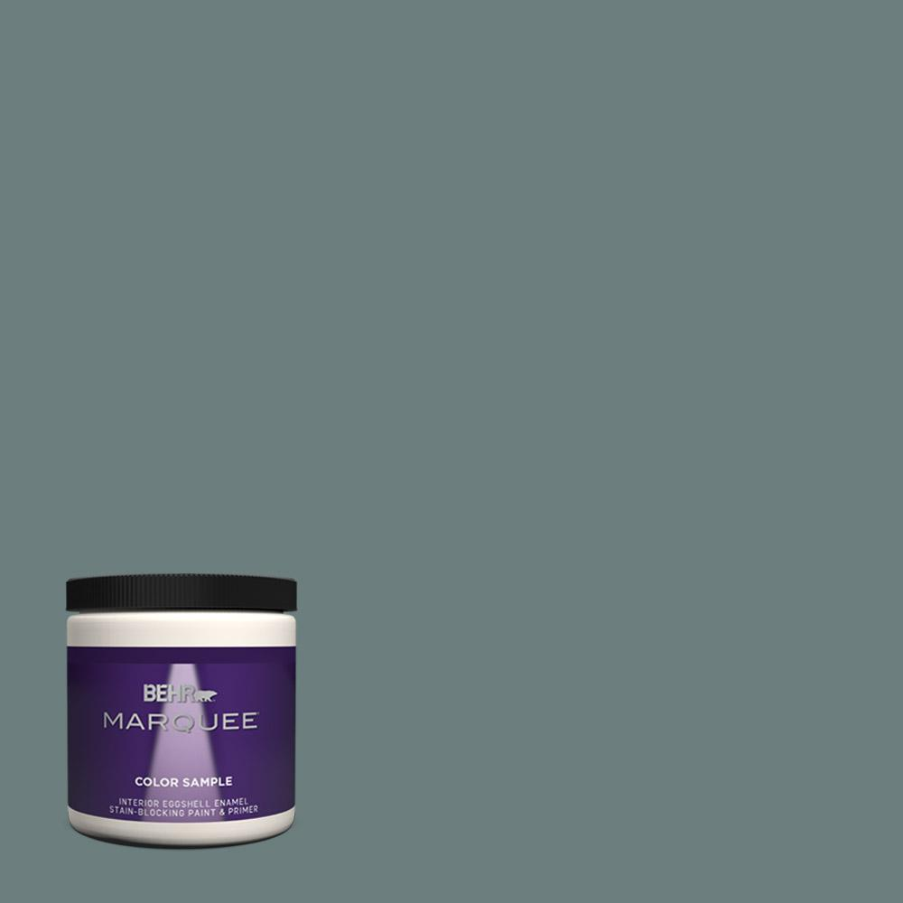 Behr marquee 8 oz n440 5 coney island one coat hide eggshell enamel interior exterior paint for Best one coat coverage exterior paint