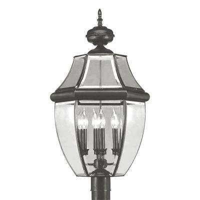 Providence 4-Light Outdoor Black Incandescent Post Lantern