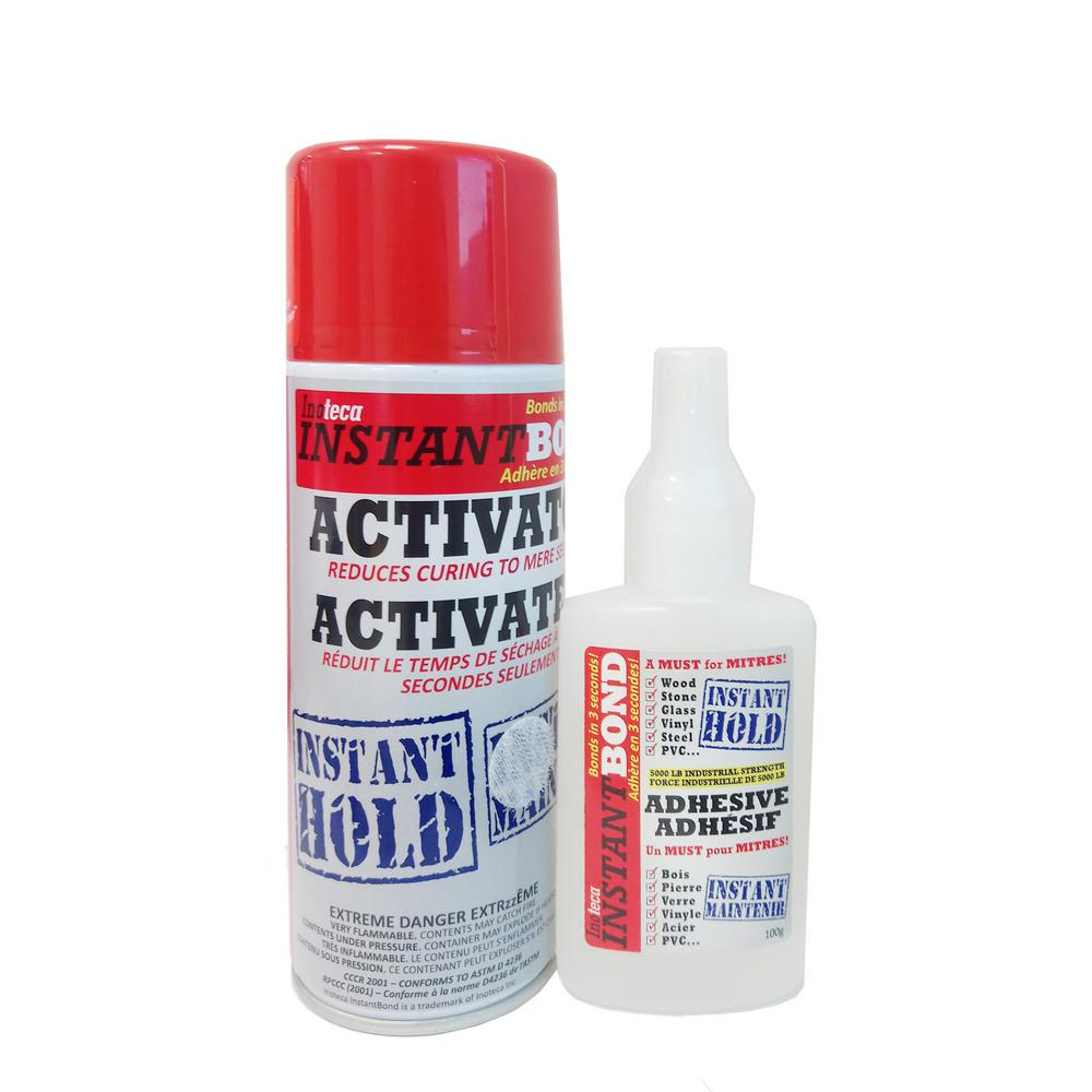 Instantbond Instantbond 100/400 ml Clear World's Fastest Instant Adhesive and Cyanoacrylate Glue and Activator Spray