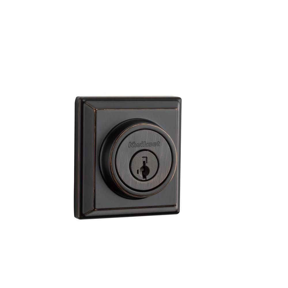 910 Signature Series Single-Cylinder Contemporary Venetian Bronze Deadbolt with
