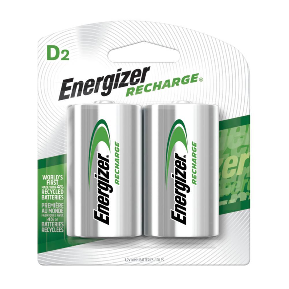NiMH D 1.2-Volt Rechargeable Battery (2-Pack)