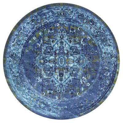Reiko Vintage Persian Blue 4 ft. x 4 ft. Round Indoor Area Rug