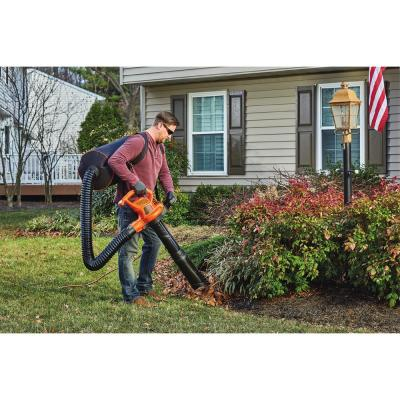 250 MPH 400 CFM 12 Amp 3-in-1 Corded Electric Backpack Leaf Blower/Vac/Mulcher
