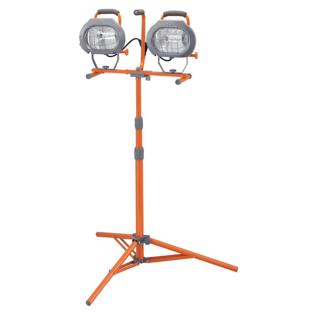 HDX 1200-Watt Halogen Tripod Work Light