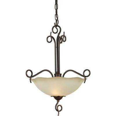 Burton 2-Light Antique Bronze Incandescent Ceiling Pendant