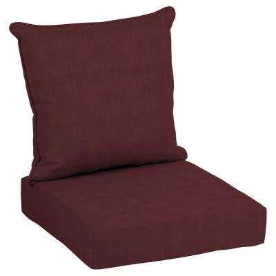 CushionGuard Aubergine Deep Seating Outdoor Lounge Chair Cushion
