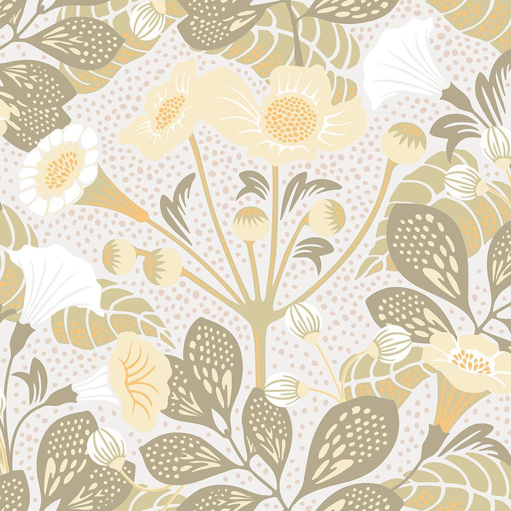 8 in. x 10 in. Tropisk Green Floral Wallpaper Sample WV1475SAM