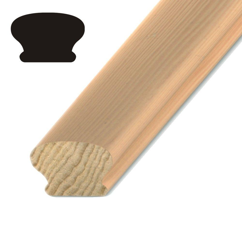 Kelleher Mushroom 1-5/8 in. x 2-3/8 in. Pine Handrail
