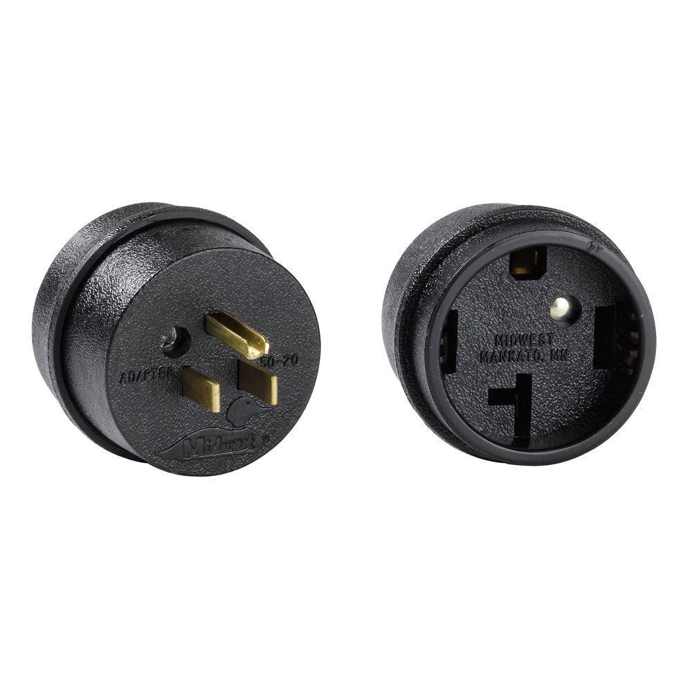 GE 50 Amp to 20 Amp Adapter Plug