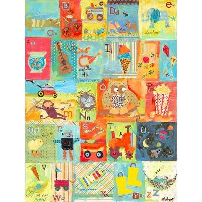 "40 in. x 30 in. ""Favorite Things Alphabet - Boy"" by Winborg Sisters Printed Canvas Wall Art"