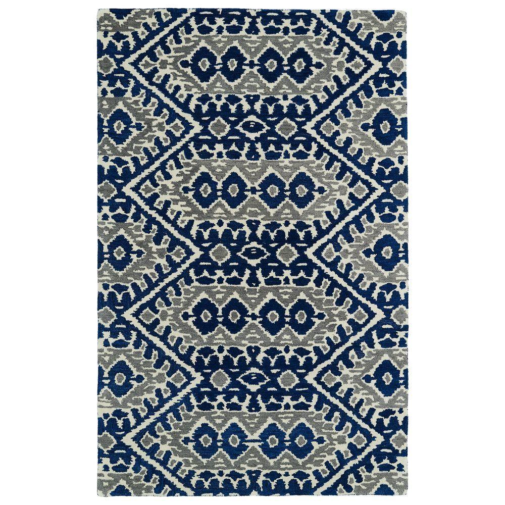 Kaleen Global Inspiration Blue 2 ft. x 3 ft. Area Rug