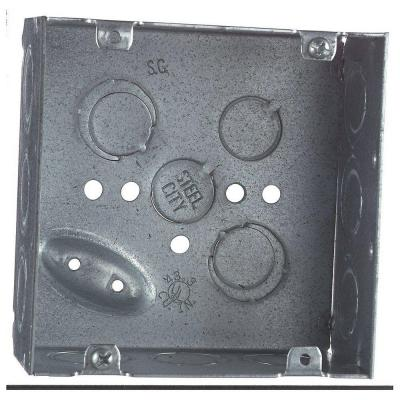2-Gang 4 in x 1-1//2 in Deep Square Metal Electrical Box Steel 0.66lb Case of 50