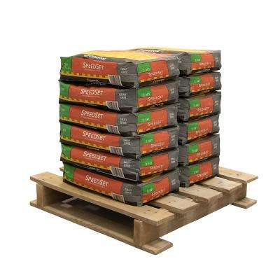 SpeedSet 25 lbs. Gray Fortified Thinset Mortar (12 Bags / Pallet)