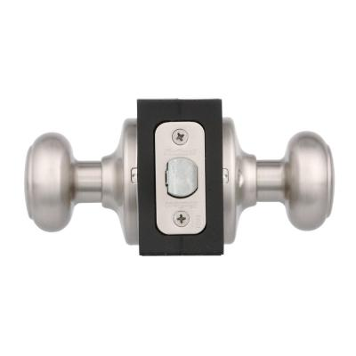 Cove Satin Nickel Passage Hall/Closet Door Knob Featuring Microban Antimicrobial Technology