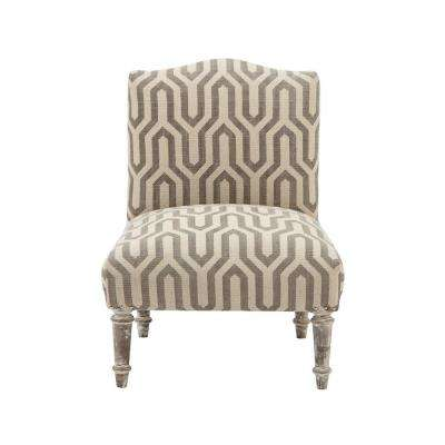Alik Taupe Kilim Accent Chair