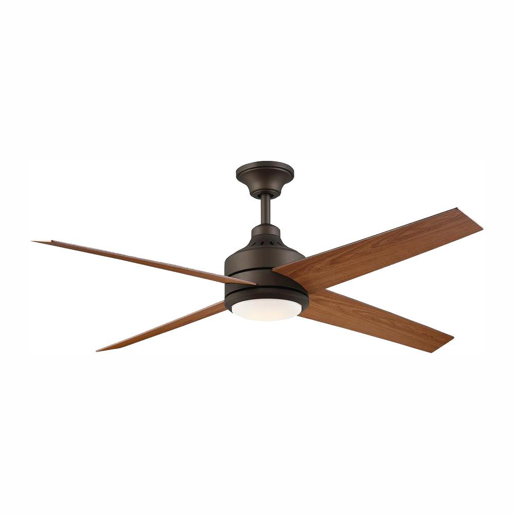 Home Decorators Collection Mercer 56 in. Integrated LED Indoor Oil Rubbed Bronze Ceiling Fan with Light Kit and Remote Control