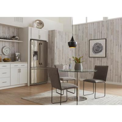 .139 in. x 48 in. x 96 in. White Paint Pine MDF Paneling