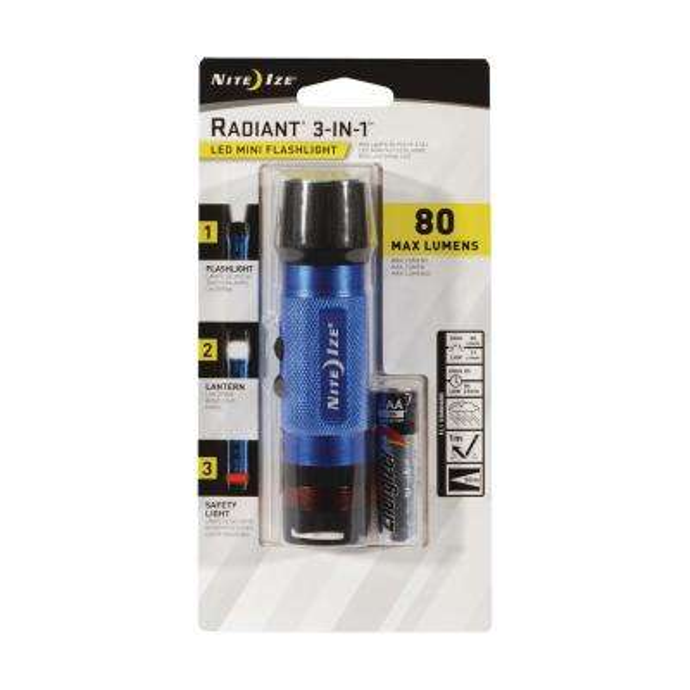 3-in-1 LED Mini Flashlight Blue