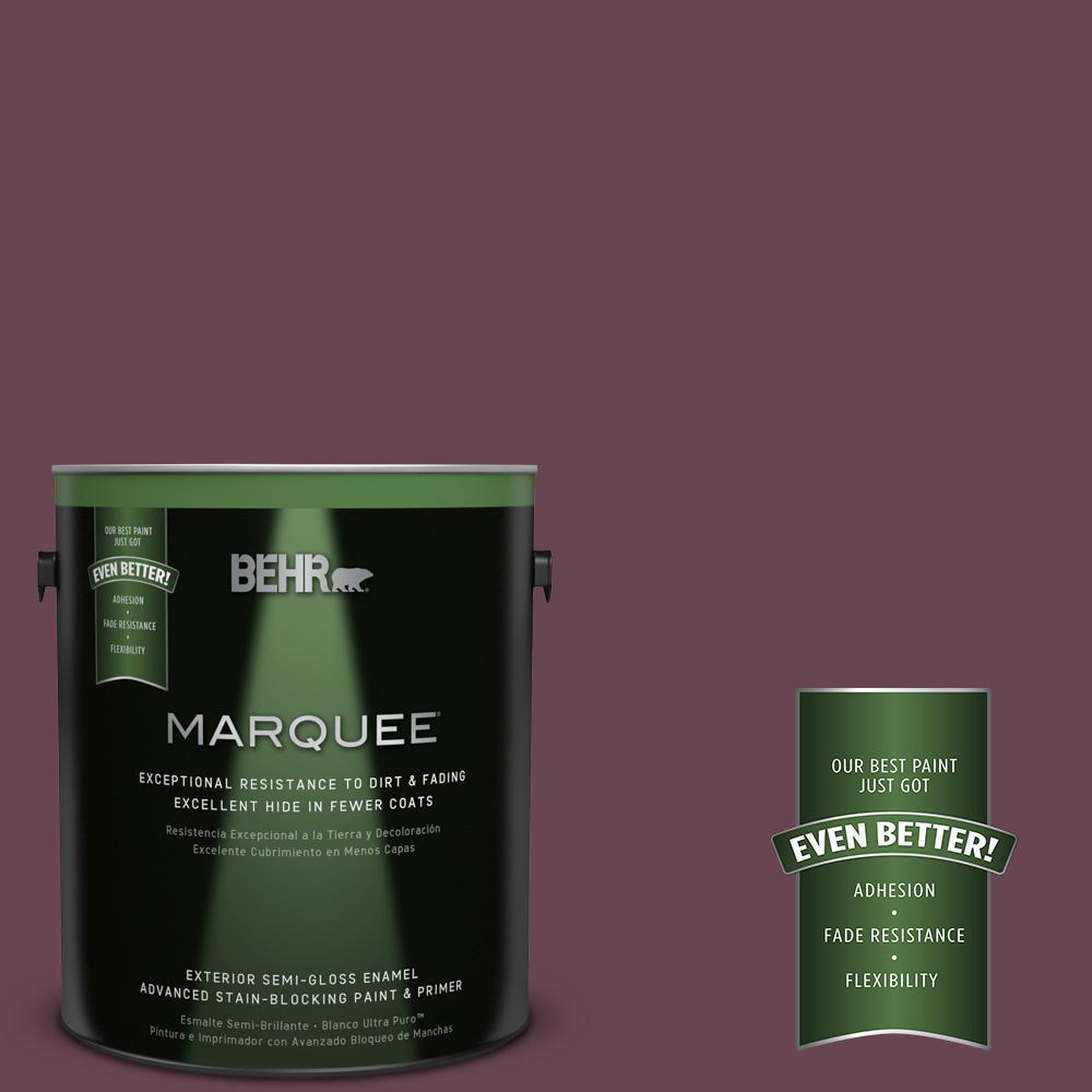 BEHR MARQUEE 1-gal. #UL100-21 Mixed Berry Jam Semi-Gloss Enamel Exterior Paint
