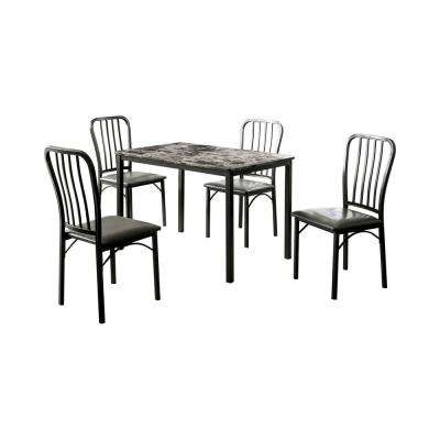 Lichelle 5-Piece Dark Gray and Gray Dining Table Set