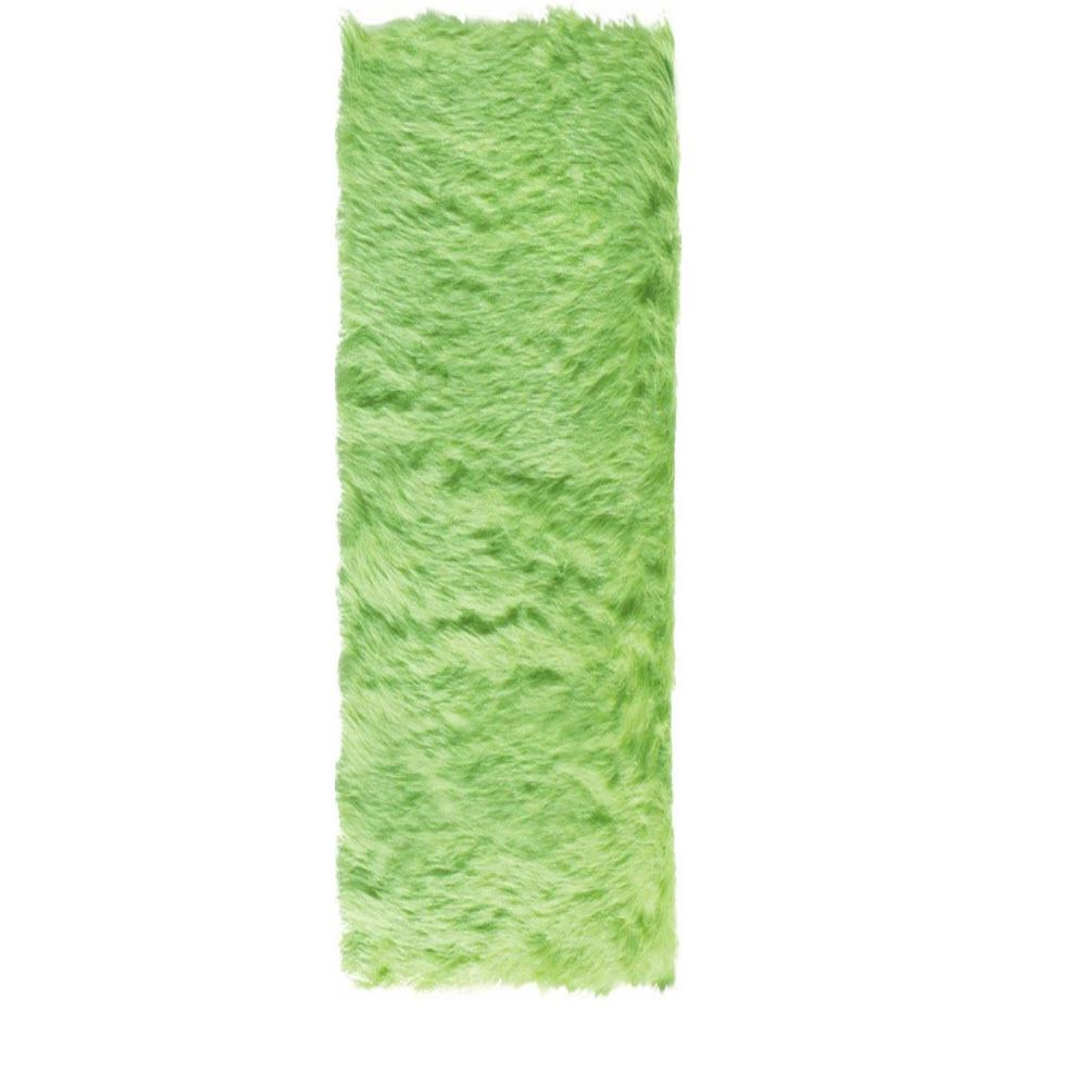 Home Decorators Collection Faux Sheepskin Lime 2 ft. 6 in. x 8 ft. Rug Runner